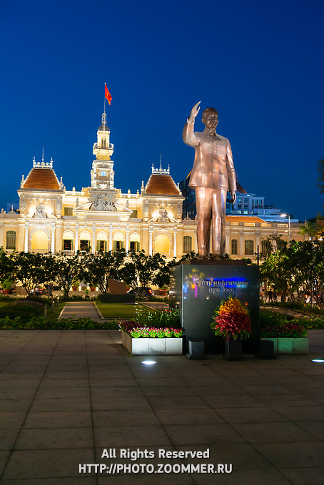 Ho Chi Minh Statue Near City Hall