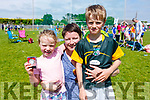 Regina O'Rourke, Cara and Tiarnan Lynch from Dingle at the St. Brendan's A.C. Open Sports Day in Ardfert on Monday.