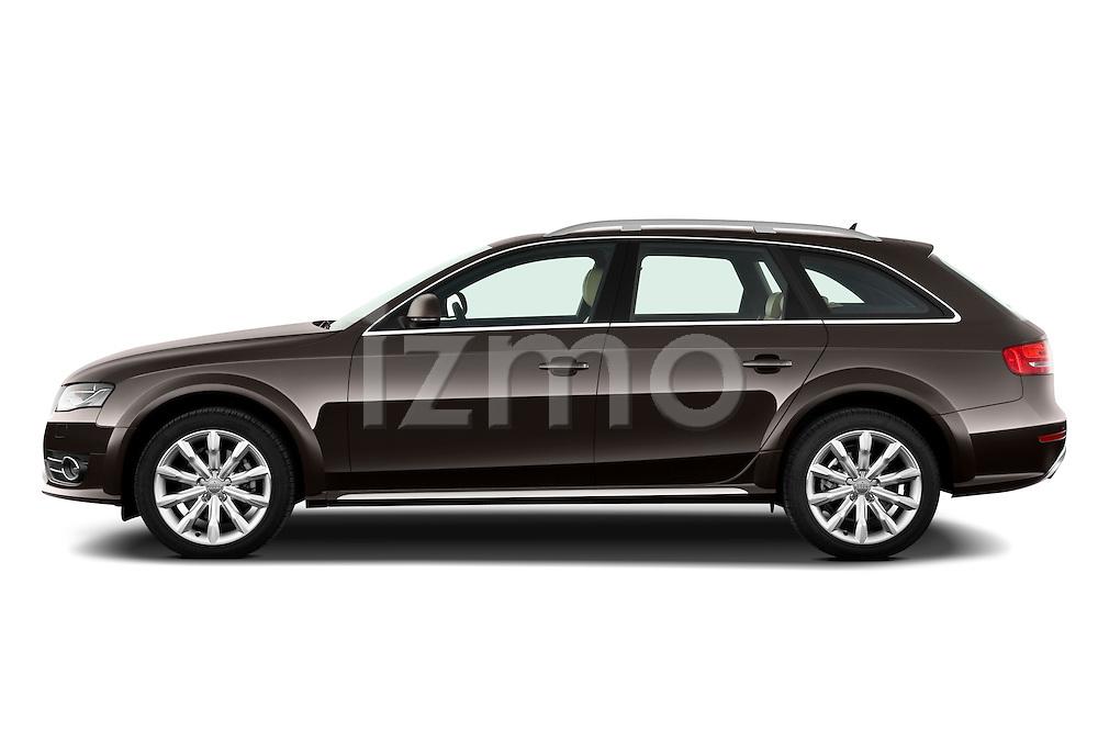 Driver side profile view of a 2011 Audi A4 Allroad Quattro 2.0l TDI 5 Door Wagon