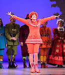 Valerie Wright & Company during the First Performance Curtain Call of the Broadway Holiday Hit Musical 'Elf'  at the Al Hirschfeld  Theatre in New York City on 11/09/2012