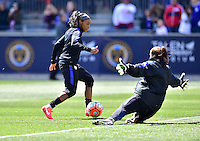 Chester, Pa. - April 10, 2016: The U.S. Women's National team go up against Colombia in an international friendly match at Talen Energy Stadium.
