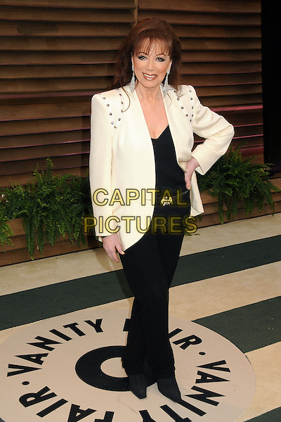02 March 2014 - West Hollywood, California - Joan Collins. 2014 Vanity Fair Oscar Party following the 86th Academy Awards held at Sunset Plaza.  <br /> CAP/ADM/BP<br /> &copy;Byron Purvis/AdMedia/Capital Pictures