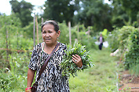 The International Rescue Committee's New Roots program garden brings fresh vegetables at a low incomes families in Charlottesville, Va. Photo/Andrew Shurtleff