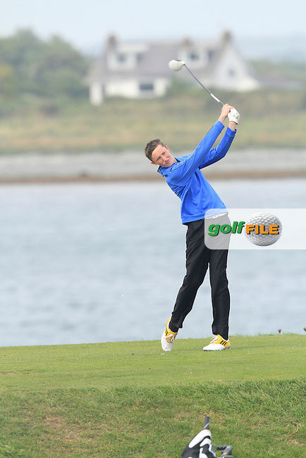 Jason Murphy (Warrenpoint) on the 13th tee during Round 1 of the Irish Youths Amateur Close Championship in Ardglass Golf Club on Wednesday 27th August 2014.<br /> Picture:  Thos Caffrey / www.golffile.ie