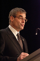 Montreal (QC) CANADA, March 22 2009 -  Pierre Boivin ,<br /> President,<br /> Club de hockey Canadien Inc. and Bell Centre speak about  The Canadiens, Culture and Community and n ot about the rumour of the Club and the Bell Centre beeing sold by its owner Gillet.