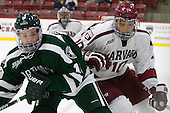 John Ernsting (Dartmouth - 19), Brayden Jaw (Harvard - 10) - The Harvard University Crimson defeated the Dartmouth College Big Green 5-2 to sweep their weekend series on Sunday, November 1, 2015, at Bright-Landry Hockey Center in Boston, Massachusetts. -