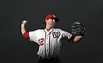 WASHINGTON, D.C. - NOVEMBER 10:  Pitcher Drew Storen #22 of the Washington National poses during a portrait shoot on November 10, 2011 at National Park in Washington D.C.  (Photo by Donald Miralle/The Washington Nationals Baseball Club) *** Local Caption ***