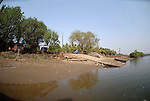 Old ferry landing stage at Chopdem on the Chapora River in Goa in India.