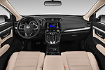 Stock photo of straight dashboard view of 2019 Honda CR-V LX 5 Door SUV Dashboard