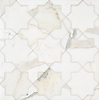 Isaac, a stone waterjet mosaic, show in polished Calacatta Gold, is part of the Semplice® collection for New Ravenna.