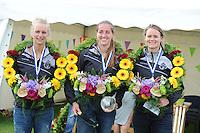 KAATSEN: SINT JACOB: 19-06-2016, Dames Hoofdklasse Vrije formatie, winnaars Ilse Tuinenga (Koningin), Sjoukje Visser en Wiljo Sijbrandij, ©foto Martin de Jong
