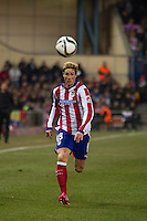 Atletico de Madrid´s Fernando Torres during 2014-15 Spanish King Cup match between Atletico de Madrid and Barcelona at Vicente Calderon stadium in Madrid, Spain. January 28, 2015. (ALTERPHOTOS/Luis Fernandez) /nortephoto.com<br />