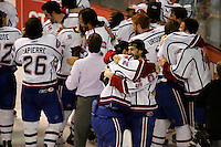 Jun 7, 2007; Hamilton, ON, CAN; Hamilton Bulldogs goalie (29) Carey Price and left winger (25) Michael Lambert and teammates celebrate winning the Calder Cup over the Hershey Bears in game five of the Calder Cup finals at Copps Coliseum in Hamilton, ON. The Bulldogs defeated the Bears 2-1 to win the Calder Cup. Mandatory Credit: Ron Scheffler