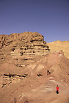 """Israel, Arava region, the road to the """"Hidden Valley"""" in Eilat Mountains"""