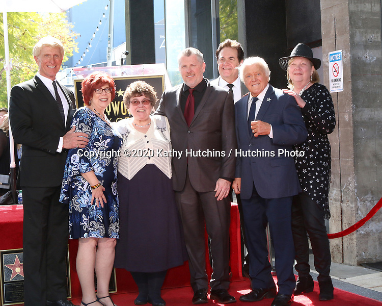LOS ANGELES - FEB 24:  Donovan Tea, Fan Friends, Rob Gulack, Bobby Poynton, Tony Butala at the The Lettermen Star Ceremony on the Hollywood Walk of Fame on February 24, 2019 in Los Angeles, CA