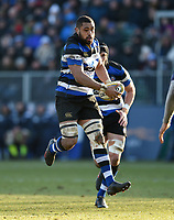 Taulupe Faletau of Bath Rugby in possession. Aviva Premiership match, between Bath Rugby and Sale Sharks on February 24, 2018 at the Recreation Ground in Bath, England. Photo by: Patrick Khachfe / Onside Images