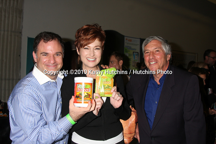 LOS ANGELES - NOV 20:  Gil R. Tatarsky, Carolyn Hennesy, Victor Zeines at the Connected's Celebrity Gift Suite celebrating the 2010 American Music Awards at Ben Kitay Studios on November 20, 2010 in Los Angeles, CA