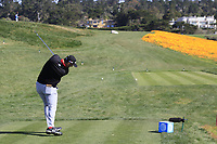 Jon Rahm (ESP) tees off the 8th tee during Sunday's Final Round of the 2018 AT&amp;T Pebble Beach Pro-Am, held on Pebble Beach Golf Course, Monterey,  California, USA. 11th February 2018.<br /> Picture: Eoin Clarke | Golffile<br /> <br /> <br /> All photos usage must carry mandatory copyright credit (&copy; Golffile | Eoin Clarke)