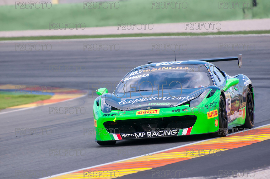 VALENCIA, SPAIN - OCTOBER 2: Manuela Gostner during Valencia Ferrari Challenge 2015 at Ricardo Tormo Circuit on October 2, 2015 in Valencia, Spain