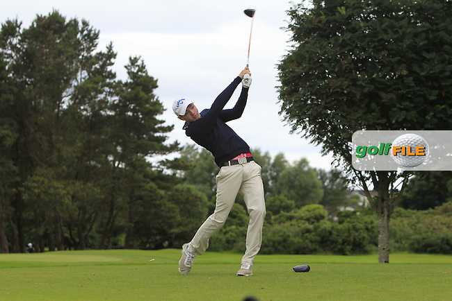 Reece Black (Hilton Templepatrick) on the 15th tee during R2 of the 2016 Connacht U18 Boys Open, played at Galway Golf Club, Galway, Galway, Ireland. 06/07/2016. <br /> Picture: Thos Caffrey | Golffile<br /> <br /> All photos usage must carry mandatory copyright credit   (&copy; Golffile | Thos Caffrey)