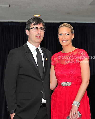 John Oliver and Kate Oliver arrive for the 2013 White House Correspondents Association Annual Dinner at the Washington Hilton Hotel on Saturday, April 27, 2013..Credit: Ron Sachs / CNP.(RESTRICTION: NO New York or New Jersey Newspapers or newspapers within a 75 mile radius of New York City)