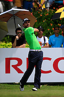 Alejandro Canizares (ESP) on the 15th tee during Round 3 of the Maybank Malaysian Open at the Kuala Lumpur Golf & Country Club on Saturday 7th February 2015.<br /> Picture:  Thos Caffrey / www.golffile.ie