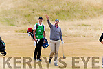 Eric Trump playing golf at Ballybunion Golf Club on Sunday.