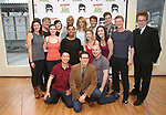 Benjamin Rauhala, Melissa Zaremba, Curtis Wiley, Ashley Spencer, Eric Sciotto and Don Stephenson with the cast during the Press preview for 'Attack of the Elvis Impersonators'  at Shelter Studios on May 22, 2017 in New York City.