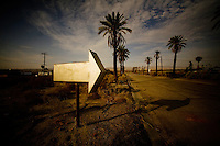 July 31, 2007_North Shore, CA -  A remnant of the glory days still exists in the former resort town of North Shore along the Salton Sea.