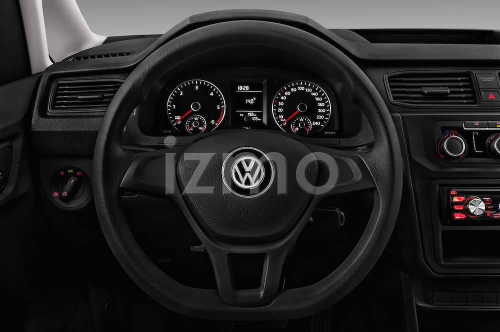Car pictures of steering wheel view of a 2016 Volkswagen Caddy Maxi Van - 5 Door Car Van Steering Wheel