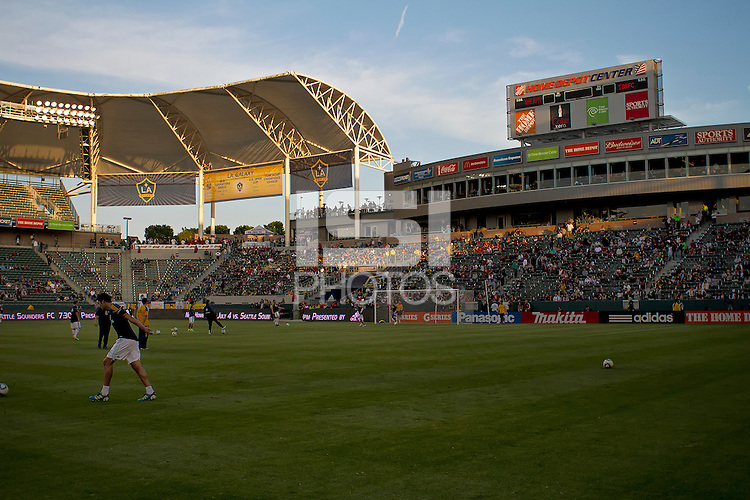 CARSON, CA – June 11, 2011: Home Depot Center before the match between LA Galaxy and Toronto FC at the Home Depot Center in Carson, California. Final score LA Galaxy 2, Toronto FC 2.