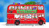 Kate, CHRISTMAS SANTA, SNOWMAN, WEIHNACHTSMÄNNER, SCHNEEMÄNNER, PAPÁ NOEL, MUÑECOS DE NIEVE, paintings+++++London bus driver side revised,GBKM338,#x# ,bus
