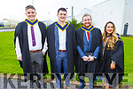Dermot O'Brien (Listowel), Darren Moriarty (Glenbeigh), Johnathan and Rachel Quirke (Tralee) graduating from the I T Tralee on Friday.