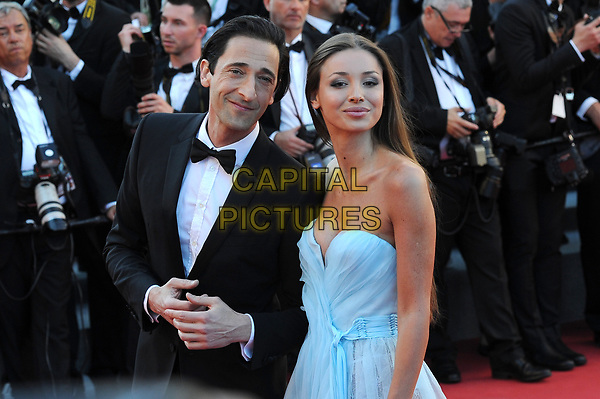 Adrien Brody with his girlfriend Lara Lieto at the Opening Movie &acute;Les Fantomes d Ismael`  screening during The 70th Annual Cannes Film Festival on May 17, 2017 in Cannes, France.<br /> CAP/LAF<br /> &copy;Lafitte/Capital Pictures