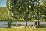 Adirondack chairs at Essex Auto Club. Connecticut River, CT.