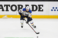 June 12, 2019: St. Louis Blues center Ivan Barbashev (49) in action during game 7 of the NHL Stanley Cup Finals between the St Louis Blues and the Boston Bruins held at TD Garden, in Boston, Mass.  The Saint Louis Blues defeat the Boston Bruins 4-1 in game 7 to win the 2019 Stanley Cup Championship.  Eric Canha/CSM.