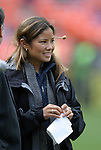 3 April 2004: With the demise of the WUSA, Lorrie Fair is now a sideline announcer for MLS games on ABC and espn2  televised games. DC United defeated the San Jose Earthquakes 2-1 at RFK Stadium in Washington, DC on opening day of the regular season in a Major League Soccer game..
