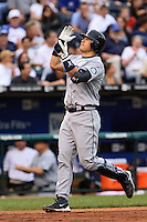 Mariners catcher Kenji Johjima hits a grand slam in the fourth inning against the Royals at Kauffman Stadium in Kansas City, Missouri on May 26, 2007.  Seattle won 9-1.
