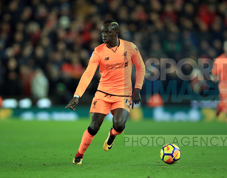 Sadio Mane of Liverpool during the premier league match at the bet365 Stadium, Stoke on Trent. Picture date 29th November 2017. Picture credit should read: Clint Hughes/Sportimage