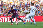 53e Trofeu Joan Gamper.<br /> FC Barcelona vs Club Atletico Boca Juniors: 3-0.<br /> Malcom, Julio Buffarini &amp; Emanuel Reynoso.