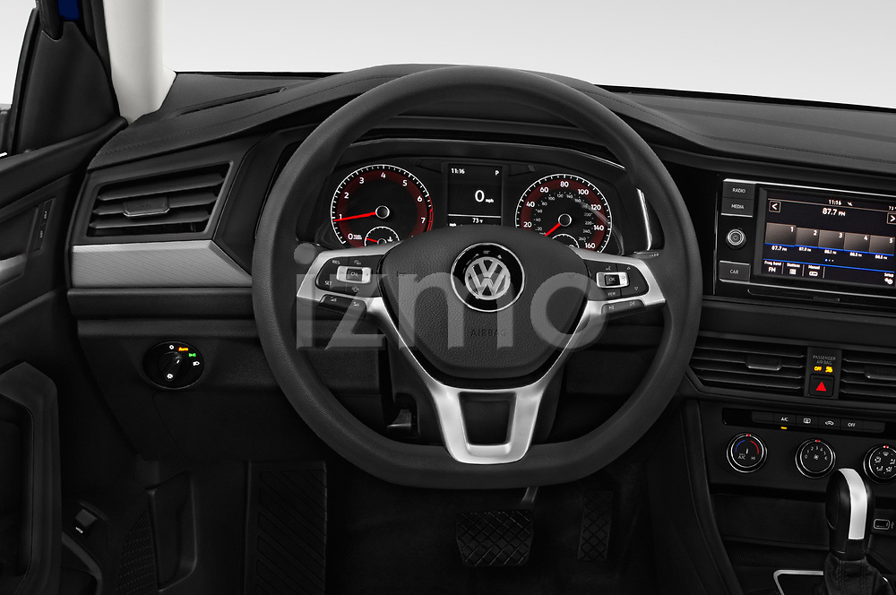 Car pictures of steering wheel view of a 2019 Volkswagen Jetta S 4 Door Sedan