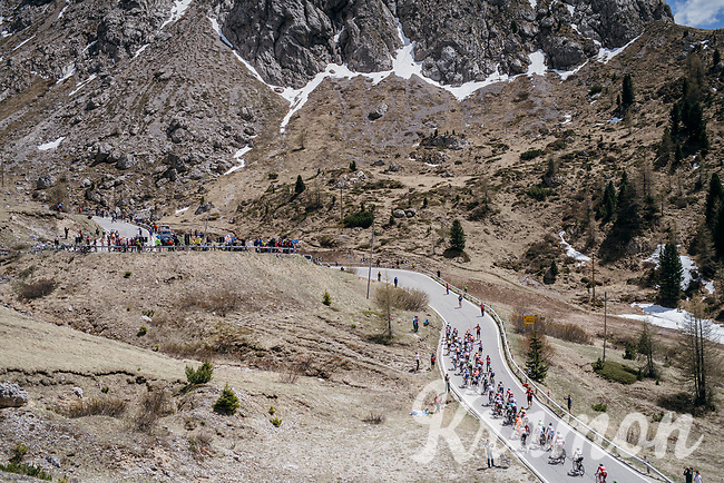 up the Passo Pordoi (2239m)<br /> <br /> Stage 18: Moena &rsaquo; Ortisei/St. Urlich (137km)<br /> 100th Giro d'Italia 2017