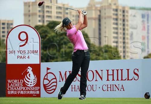 06.03.2014. Haikou, China; Suzann Pettersen of Norway fired a first round six-under-par 67 to lead round one of the World Ladies Championship at Mission Hills Blackstone Course.