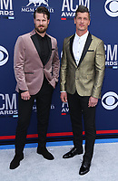 07 April 2019 - Las Vegas, NV - High Valley, Brad Rempel, Curtis Rempel. 54th Annual ACM Awards Arrivals at MGM Grand Garden Arena. Photo Credit: MJT/AdMedia<br /> CAP/ADM/MJT<br /> &copy; MJT/ADM/Capital Pictures