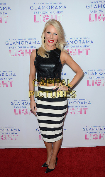 Gretchen Rossi<br /> Macy&rsquo;s Passport Presents Glamorama 2013 at the Orpheum Theatre, Los Angeles, California, USA, 12th September 2013.<br /> full length black cropped top crop hand on hip white striped skirt  leather hand on hip <br /> CAP/ADM/TW<br /> &copy;Tonya Wise/AdMedia/Capital Pictures