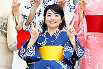 Aki Taguchi, <br /> JULY 24, 2017 : <br /> Event for Tokyo 2020 Olympic and Paralympic games is held <br /> at Toranomon hills in Tokyo, Japan. <br /> &quot;Tokyo Olympic Ondo&quot; will be renewed as Tokyo Olympic Ondo - 2020 -&quot;.<br /> (Photo by Yohei Osada/AFLO SPORT)