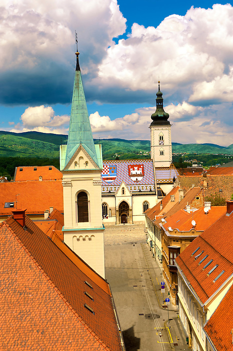 The Medieval  free royal city on Gradec on the hill of Zagreb, Croatia
