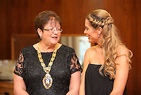 Pictured: Charlotte Jackson (R) with Councillor Beverley Hopkins (L) Thursday 20 October 2016<br />