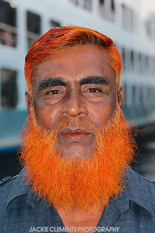Red Henna Beard Dhaka Jackie Clements Photography