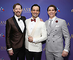 John Bolton, Ramin Karimloo, Derek Klena attends Broadway Opening Night After Party for 'Anastasia' at the Mariott Marquis Hotel on April 24, 2017 in New York City.